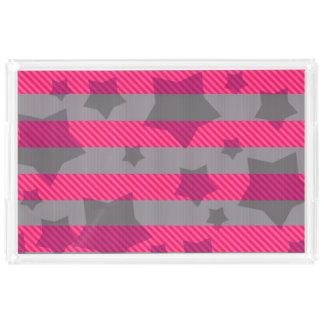 Pink & Gray Acrylic Tray