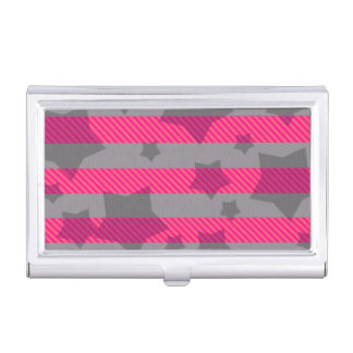 Pink & Gray Business Card Case