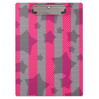 Pink & Gray Clipboards