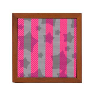 Pink & Gray Desk Organiser