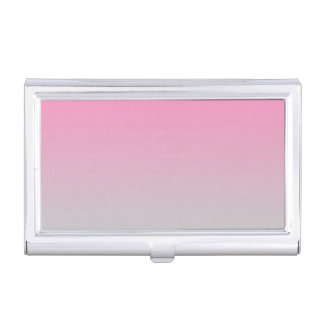 Pink & Gray Ombre Business Card Holder