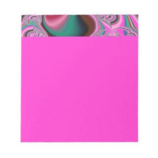 Pink & Green Amoeba Fractal Notepad