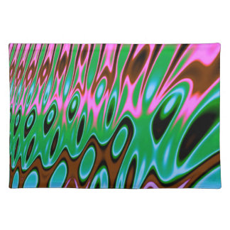 Pink Green Brown Abstract Placemat