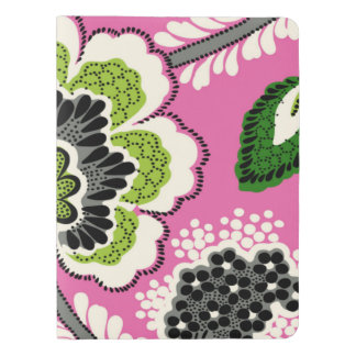PINK GREEN Flowers Large Journal