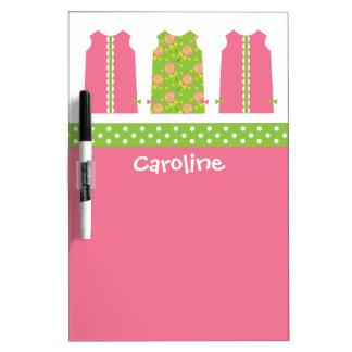 Pink & Green Lollipop Shift Dress Dry Erase Board