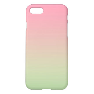 Pink & Green Ombre iPhone 7 Case