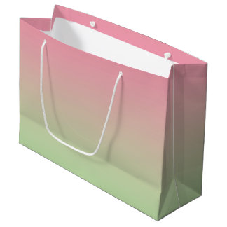 Pink & Green Ombre Large Gift Bag