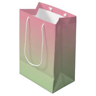 Pink & Green Ombre Medium Gift Bag