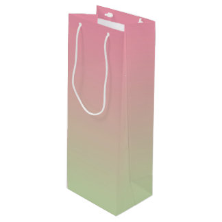 Pink & Green Ombre Wine Gift Bag