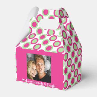 Pink green wedding photo 4a favour box