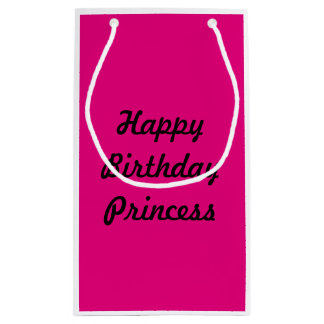 Pink Happy Birthday Princess Gift Bag