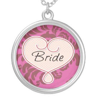 Pink Heart Bride Jewelry