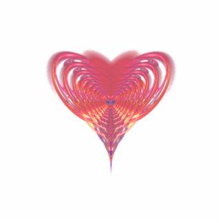 Pink Heart Fractal Standing Photo Sculpture
