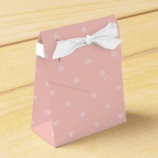 Pink Heart Gift Box Favour Boxes