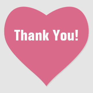 Pink Heart Thank You Sticker