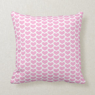 Pink Hearts Pattern Pillow Cushions