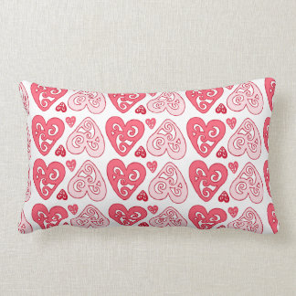 Pink Hearts Pillow
