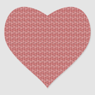 Pink Hexagon Grid Heart Sticker