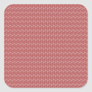 Pink Hexagon Grid Square Sticker
