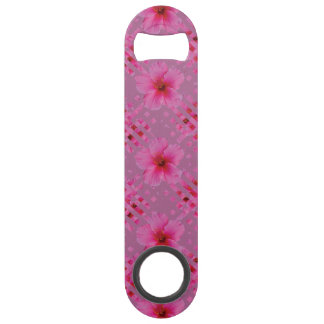 Pink Hibiscus Flower Speed Bottle Opener