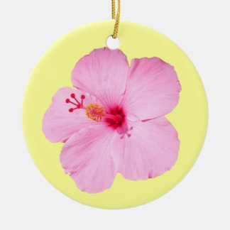 Pink Hibiscus Ornament