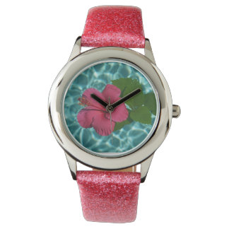 Pink Hibiscus Watch