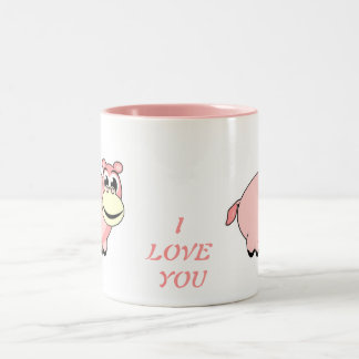 Pink Hippo Love Mug