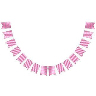 Pink Horizontal Stripes Bunting