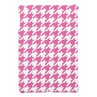 Pink Houndstooth iPad Mini Case