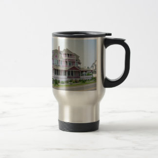 Pink House in Newport Travel Mug