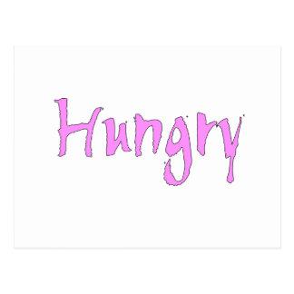Pink Hungry Postcard