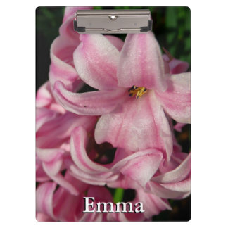 Pink Hyacinth Beautiful Spring Flower Clipboard