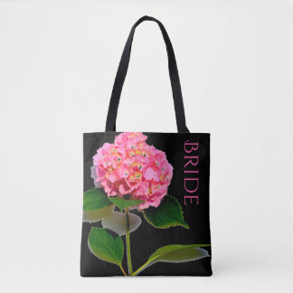 Pink Hydrangea tote for the Bride