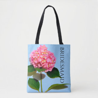 Pink Hydrangea tote for the Bridesmaid