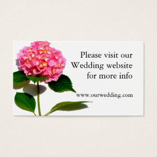 Pink hydrangea wedding card