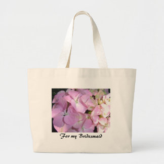 Pink Hydrangeas for Bridesmaids Large Tote Bag