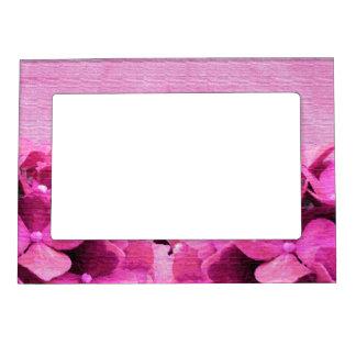 Pink Hydrangeas Photo Frame Magnet