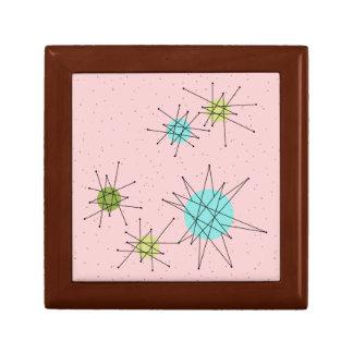 Pink Iconic Atomic Starbursts Jewelry Keepsake Box