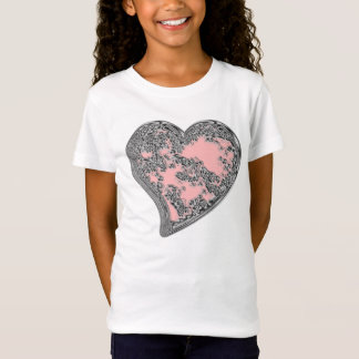Pink in Heart  Girls Bella Fitted Babydoll T-Shirt