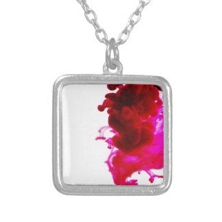Pink Ink Drop Macro Photography Pendants