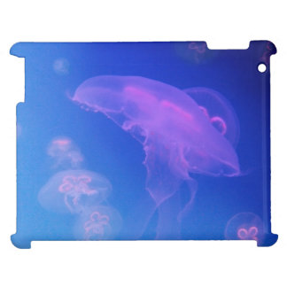 Pink jellyfishes in blue water case for the iPad 2 3 4