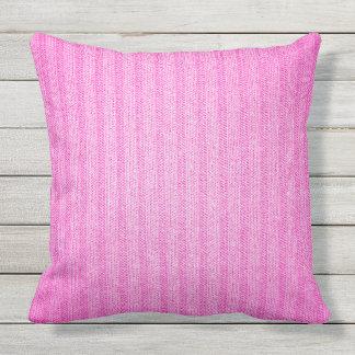 Pink Jersey Outdoor Throw Pillow