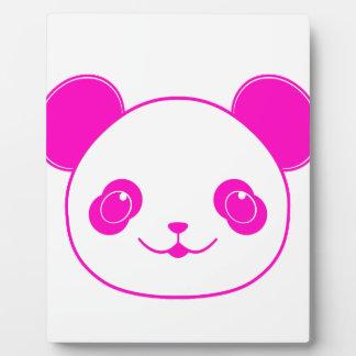Pink Kawaii Panda Bear Plaque