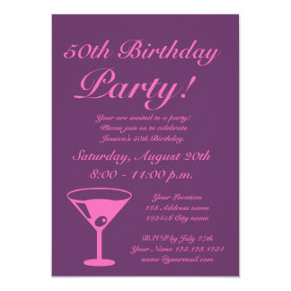 Pink Keep calm it's a Birthday party invitations