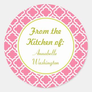 Pink Kitchen Baking Gift Stickers