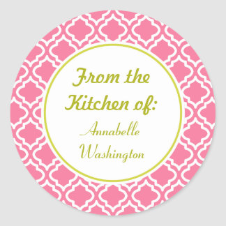 Pink Kitchen Stickers