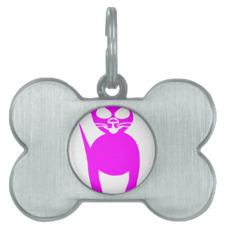 Pink kitty pet ID tag
