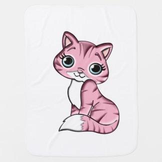 Pink Kitty Pramblanket