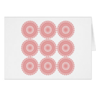 Pink Lace Pattern Design. Card