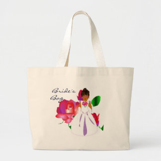 "Pink Lavender Rose ""Bride's"" Bag - Customizable Canvas Bags"